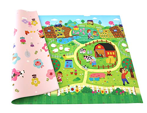 Baby Care Double View Play Mat - Exciting Farm (Large) by Baby Care