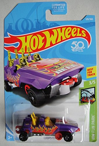 Cheap Hot Wheels 2018 50th Anniversary HW Fun Park Loopster 128/365, Purple