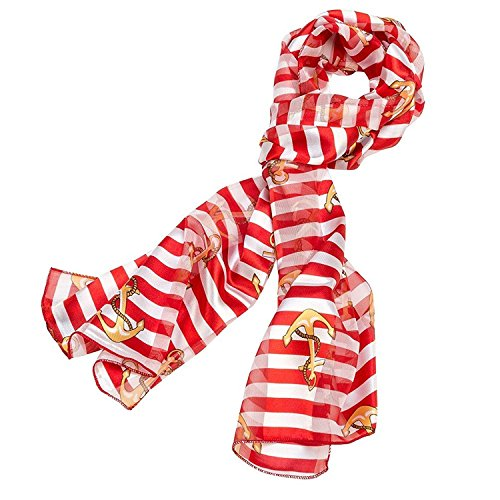 Stripe Anchor Scarf Red (Red Stripe Scarf)