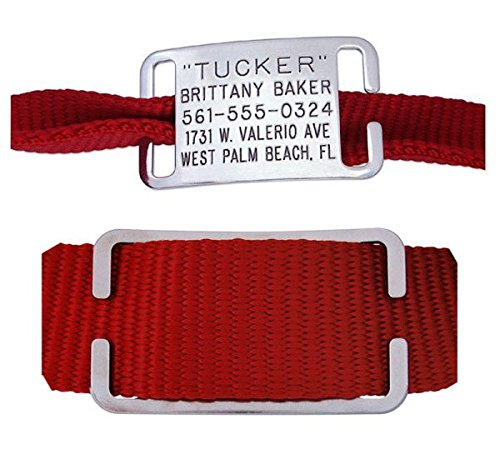 Pet-ID-Tags-for-Dog-Cat-Collars-Personalized-Engraved-Custom-Identification-Tag-Boomerang-Tags-Silent-Durable-and-Will-Not-Fall-Off-58-Inch-Collars-Adjustable-Small