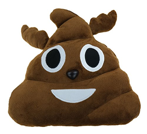 Reindeer Poop Emoji Christmas Pillow 12