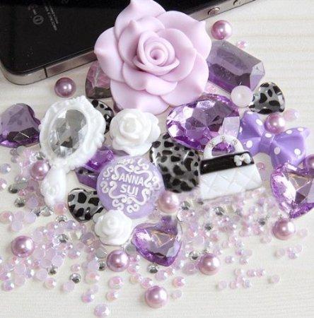 DIY 3D Hello Kitty Bling Bling Cell Phone Case Resin Flatback Kawaii Cabochons Deco Kit / Set -- lovekitty