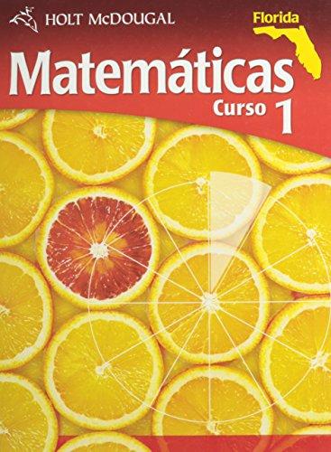 Holt McDougal Mathematics Florida: Student Edition (Spanish) Course 1 2011 (Spanish Edition)