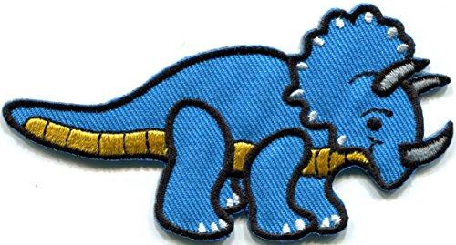 Triceratops Cretaceous dinosaur prehistoric embroidered