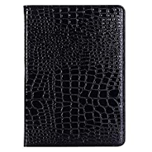 Jennyfly iPad 2 Kids Case, Lightweight Premium PU Leather Folio Hand Free Stand Case Screen Protector Cover with Card Slot for 9.7 inch iPad 2/3/4 - Black