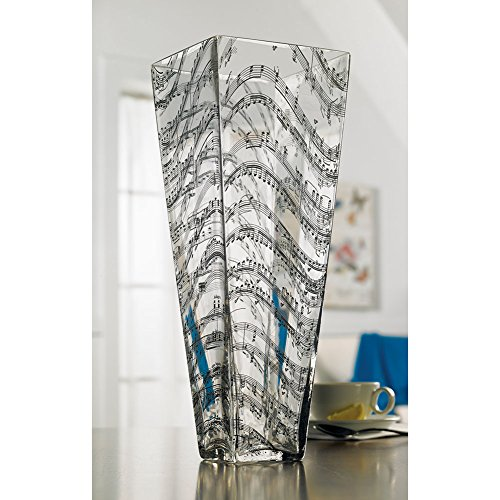 Hand Blown Beethoven Music Glass Vase Amazon Kitchen Home