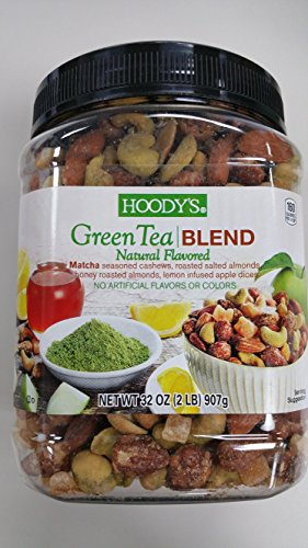 Blend Green Tea (Hoody's mixed nuts Green tea blend 2 lb , Match seasoned cashews , almonds , and apple dices . Natural flavored)