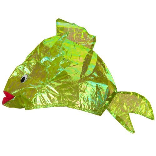 Iridescent Fish Hat - Green W36S10E