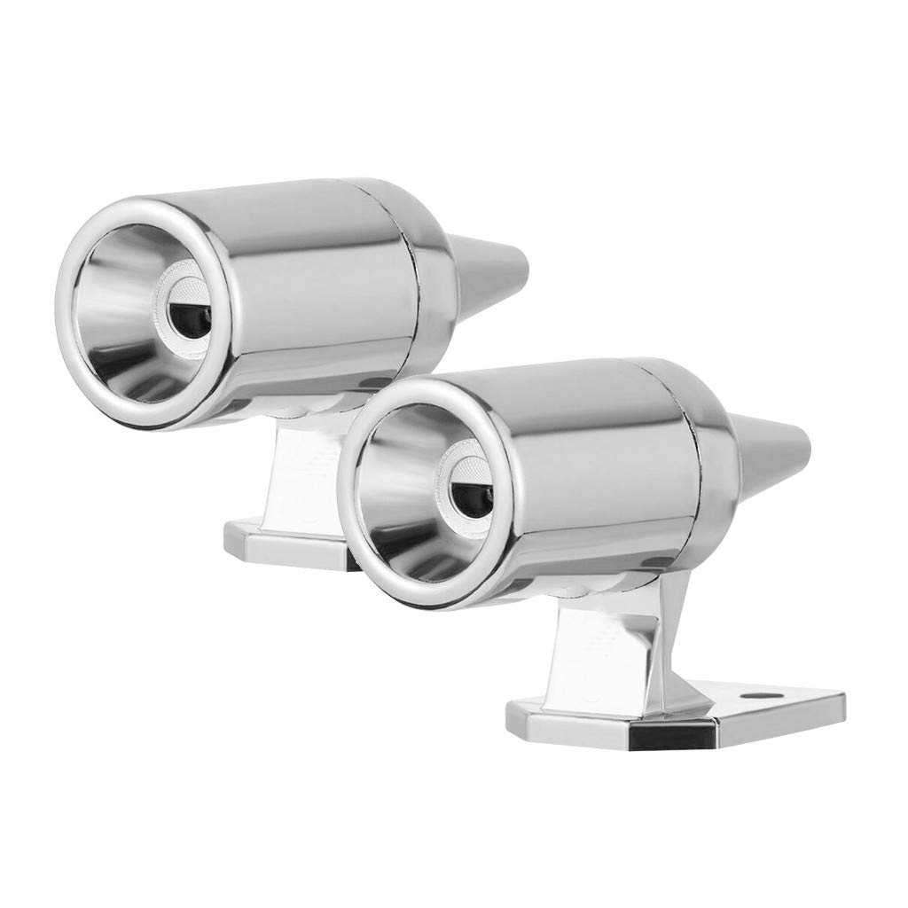 TOOLTALK Upgraded Deer Whistle for Vehicles Deer Warning Whistle Chrome, 2 Pack