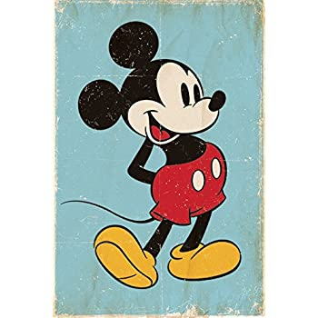 Mickey Mouse Retro Poster - 91.5 x 61cms (36 x 24 Inches)