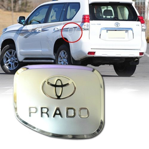 Aunoc Fuel Gas Cover Tank Cap Chrome Trim For Toyota Prado Cruiser FJ120 2003 2004 2005 2006 2007 2008 2009