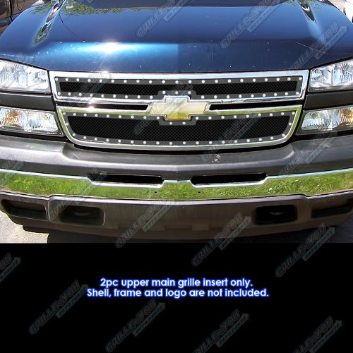06 Chevy Silverado 1500/05-06 2500/3500 Rivet Stainless Steel Mesh Grille Grill for cheap