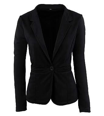4ab1aceeab76 Sweatblazer Damen Kurz Elegante Freizeit Longsleeve Sakko Slim Fit Fashion  Normallacks Business Classic Office Anzugjacke Outwear