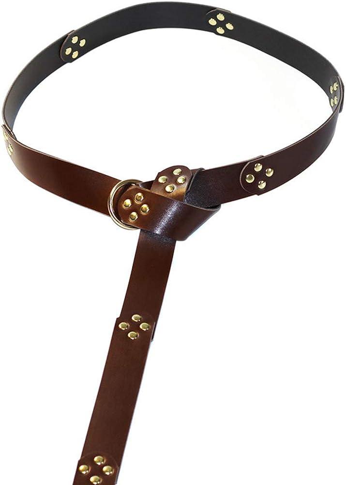 Lankater Anillo de vestuario Batalla Cintur/ón medieval de Cosplay de Viking Accesorios de cuero Cinturones Knight Regalos para Hombres Mujeres