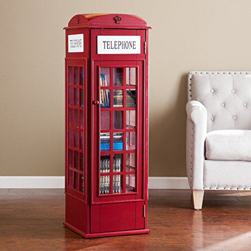 Superieur Harper Blvd Phone Booth Storage Cabinet, Red
