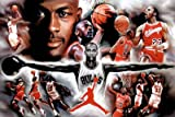 (24x36) Michael Jordan Wings Collage Vintage Sports Poster Print by Generic