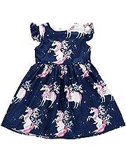 Toddler Baby Girls Dress Tunic Swing Casual Tutu Dress Princess A-line Dress