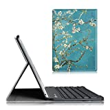 Fintie Blade X1 iPad Air 2 Keyboard Case - Ultra Slim SmartShell Stand Cover with Magnetically Detachable Wireless Bluetooth Keyboard for Apple iPad Air 2 (2014 Model), Blossom