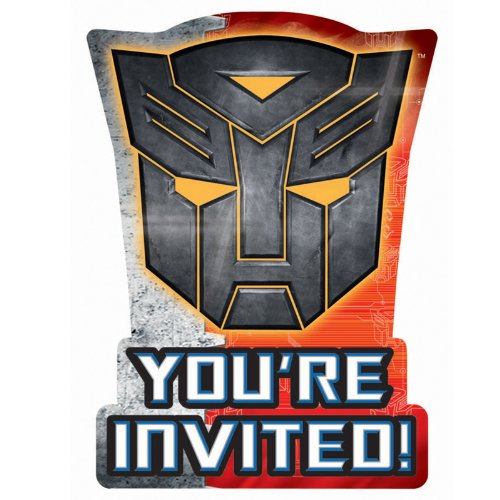 Transformer Party Invites (amscan Transformers 'Dark of The Moon' Invitations)