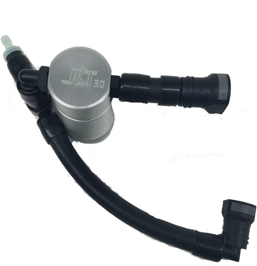 Satin Clear Anodized JLT Oil Separator 3.0 Passenger Side 2015-17 Mustang GT with Whipple Superchargers