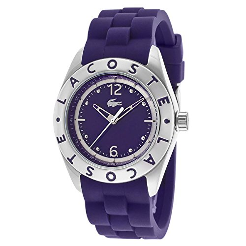 Lacoste Biarritz Three-Hand Silver and Purple Silicone Women's watch #2000750