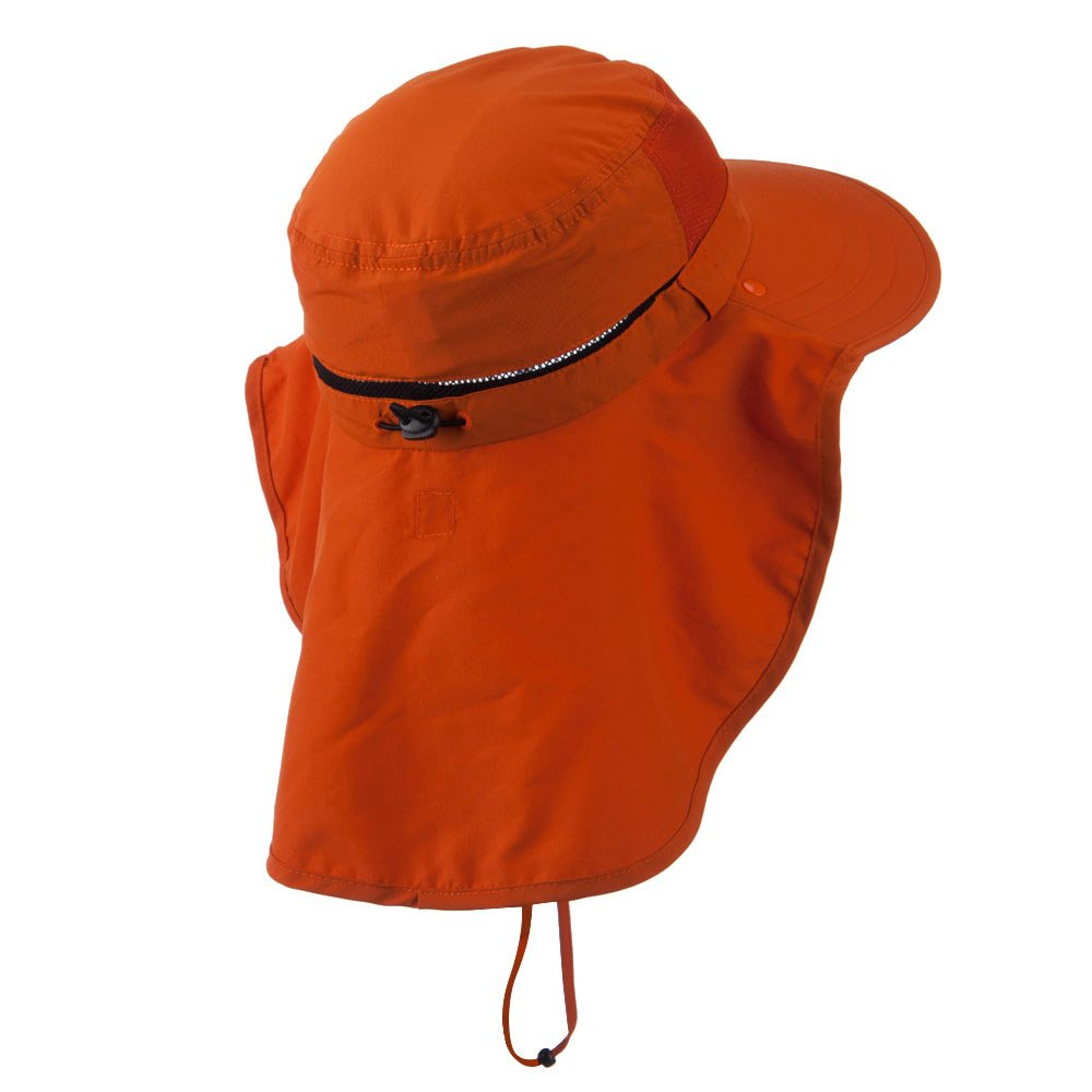 MG UV 50 Talson Large Bill Flap Hat with Detachable Inner Flap Orange