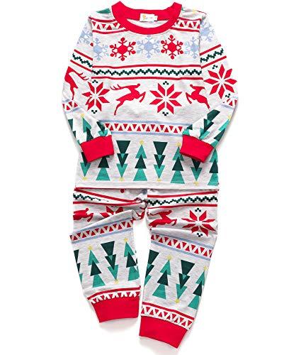 DHASIUE Christmas Kids & Toddler Pajamas Girls 2 Piece Pjs Set Cotton Sleepwear 2-7 Years