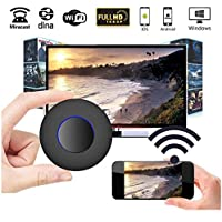 [2017 UPGRADE]WiFi Display Dongle,Megoal WiFi Wireless 1080P HD Mini Display Receiver with AV Output and Marquee Light HDMI TV Miracast DLNA Airplay for IOS/Android/Windows/Mac