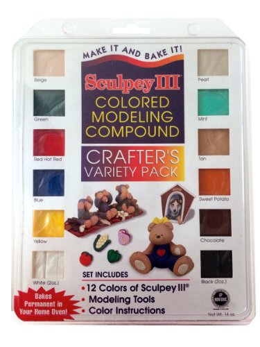 Sculpey III Polymer Colored Modeling Compound - Crafter