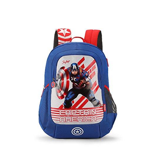 Skybags Sb Marvel Champ 18.9297 Ltrs Blue School Backpack (SBMRC06BLU)