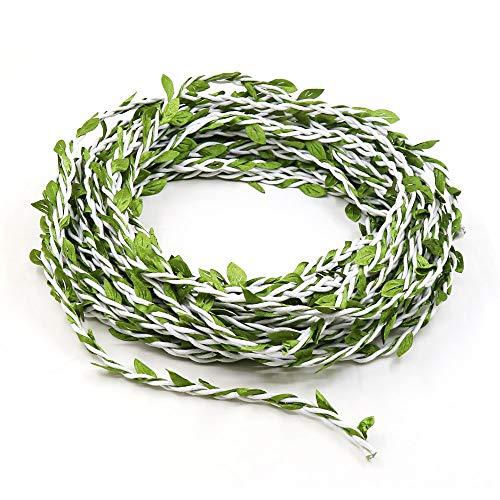 Lowki Leaves Leaf Trim Ribbon for DIY Craft and Decoration for Christmas Party (White) ()