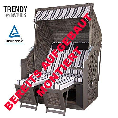 STRANDKORB TRENDY PURE CLASSIC XL SUN GREY DESSIN 413