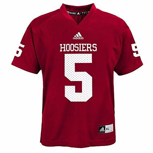 adidas Indiana Hoosiers NCAA Red Official Home #5 Replica Football Jersey for Youth (S)