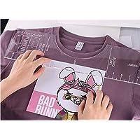 QFRZ T-Shirt HTV Vinyl Alignment Ruler Tool, Transparent T-Shirt Ruler Guide Size Chart, Acrylic Alignment t-Shirt Ruler…