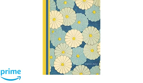 Composition Journal Blue Japanese Flowers Student Notebook