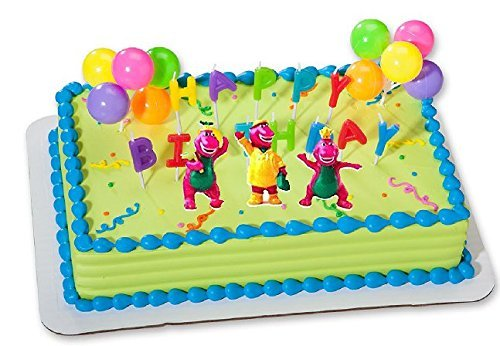 CakeSupplyShop CKB6Y -Barney Birthday Cake Decoration Party Favors Figurine Toys ()
