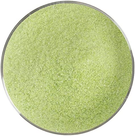 8oz Made from System 96 Glass 96COE Green Opalescent Coarse Frit