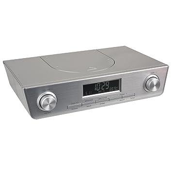 Küchen Unterbauradio KCR261 Radio PLL-Tuner LCD Alarm UKW Weiß Silber Schwarz