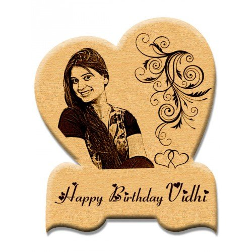 Buy Incredible Gifts India Personalized Heart Shape Wooden Plaque Birthday Gift For Girls 7 In X 6 In Beige Online At Low Prices In India Amazon In