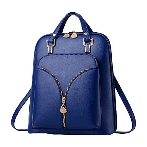 Personalidad De La Moda Bolsa De Hombro De Primavera Y Verano Mochila Mochila De La Mujer Salvaje Paquete Blue