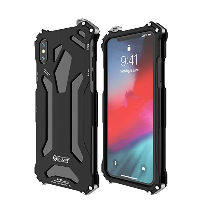 promo code 5a976 8e914 Metal Case for Apple iPhone XS Max,Bpowe Gundam Aluminum Metal Shock Proof  Frame Bumper Double Color Oxidation Aluminum Metal Case Cover for Apple ...