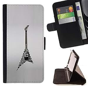 """For Sony Xperia M5 E5603 E5606 E5653,S-type Roca Heavy Metal Art Dibujo"""" - Dibujo PU billetera de cuero Funda Case Caso de la piel de la bolsa protectora"""