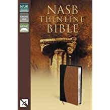 NASB, Thinline Bible, Imitation Leather, Black/Tan, Red Letter Edition