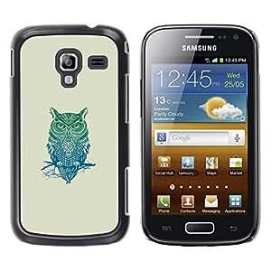 iKiki Tech / Estuche rígido - Patrón Búho tribal - Samsung Galaxy Ace 2