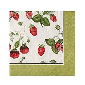 Ulster Weavers RHS Strawberry Paper Napkins, 20-Pack