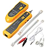 Cable tester, ELEGIANT XQ-350 Wire Tester Tracker RJ45 RJ11 Network Cable Tester Telephone Phone Wire Finder Ethernet LAN Line Finder Cat5 Cat6 with 2 Network Wire Stripper, Headphone, Toolkit
