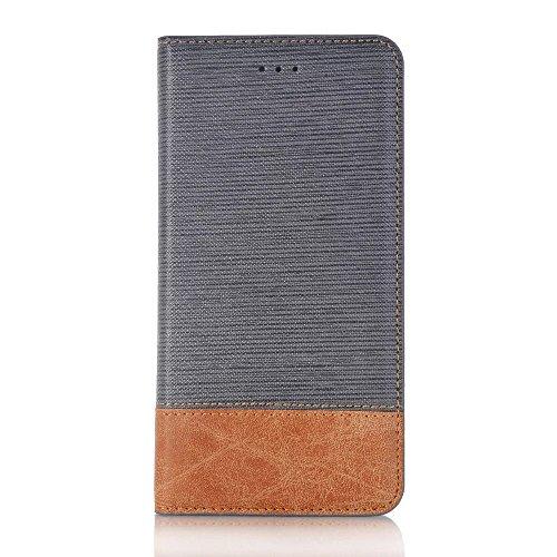 EKINHUI Case Cover IPhone 7 Plus Fall-Abdeckung, Querlinie-Muster gemischte Farben-Art PU-lederne Fall-Abdeckung mit Halter-Mappen-Karten-Schlitz-Foto-Feld für Apple IPhone 7 Plus ( Color : 1 )