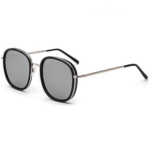 Z-P Unisex Vintage Style Wayfarer Metal Round Frame Reflective UV400 Sunglasses 61MM