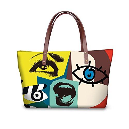 Bags Women FancyPrint Large Handbags Casual W8ccc2091al Shoulder 7fnHqwvT