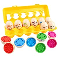 GobiDex Color Match Egg Set, Matching Sorting Color & Number Learning Toy- Recognition Education Skills